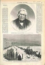 Jules Michelet Historien FRANCE / Saint Petersburg Pompier Fireman Russia 1874