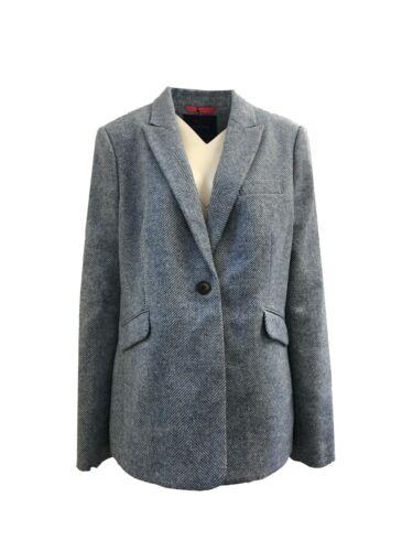 Ex Boden Blue Tweed Blazer Jacket Size 12