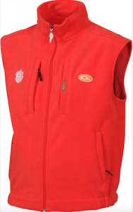 Drake Waterfowl Clemson Windproof Layering Vest SD-CLM-1600-ORG DW1600
