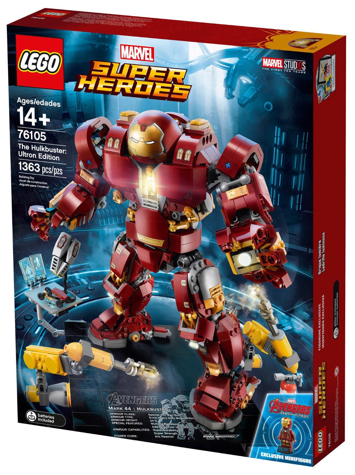 LEGO 76105 Hulkbuster  Ultron Edition  SUPER HEROES 14+ Pz 1363