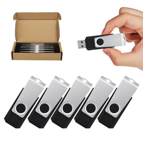 10Pack 512MB USB2.0 Flash Drive Anti-Skid Swivel Flash Memory Stick Thumb Drive