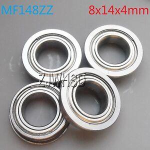 3 x 6 x 2.5 mm 10 Pack MF63-ZZ Flanged Ball Bearing