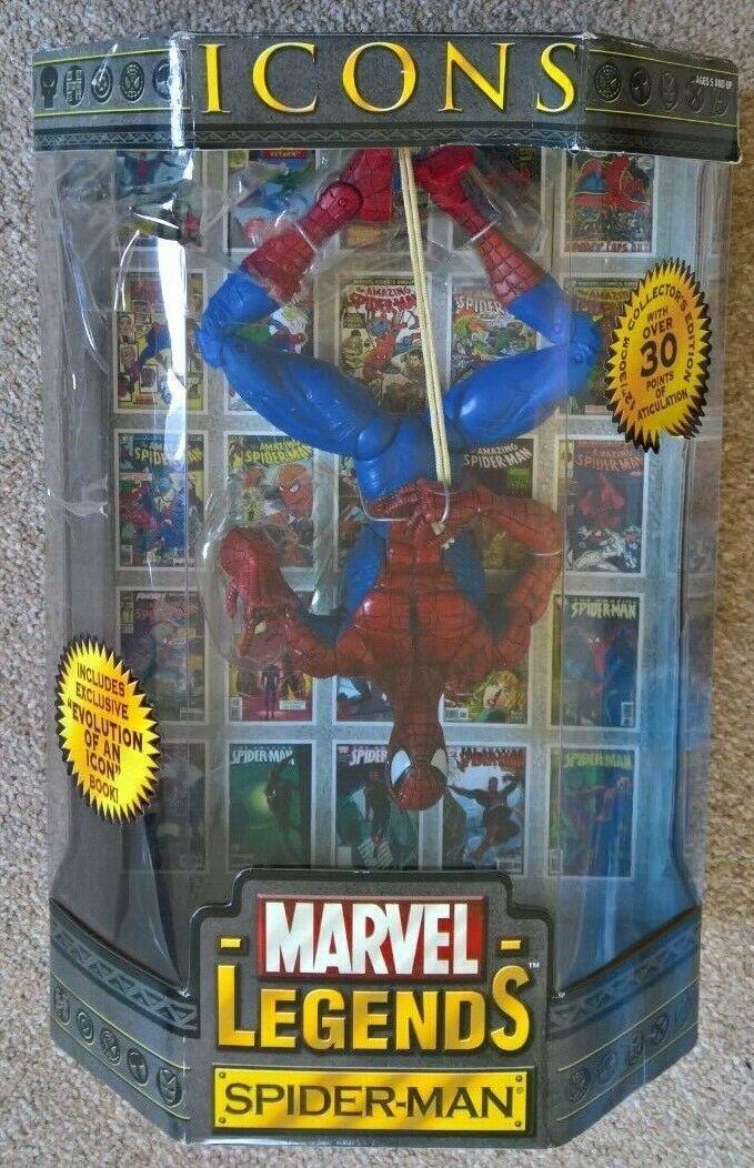 MARVEL leyendas iconos Spiderman 12 pulgadas Escala Figura Rara