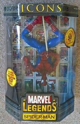 Marvel Leggende Icone Spiderman 12 Pollici In Scala Rara Figura-mostra Il Titolo Originale