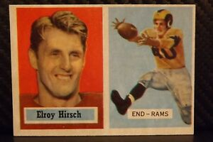 1957-Topps-46-Elroy-Hirsch-SHARP-HOF-Los-Angeles-Rams-Wisconsin-Badgers