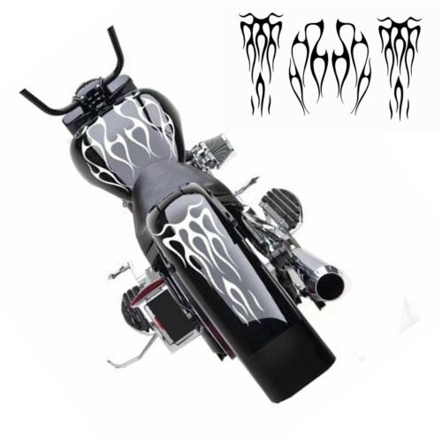 Motorcycle Flame Sticker kit Gas Tank /& Fender Decals Easy to apply and removes