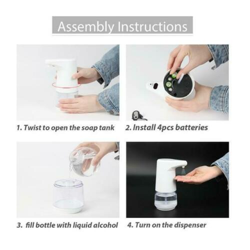 Dispenser in Spray Automatic with Sensor 360ML white