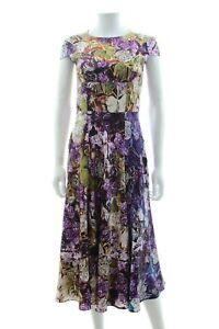 Mary-Katrantzou-Satin-Silk-Leaf-Print-Dress-Multi-RRP-1-890-00