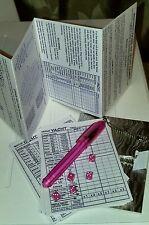 Mini Yacht Yahtzee & Triple Yacht Game Set - Tiny 5mm Dice, Rules, Score Sheets