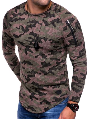Herren Oversize Longsleeve Longline Long Pullover Strickjacke Sweatshirt NEU