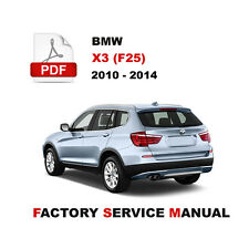 bmw x3 f25 2010 2015 factory service repair manual ebay rh ebay com 2013 bmw x3 manual pdf 2012 bmw x3 35i manual