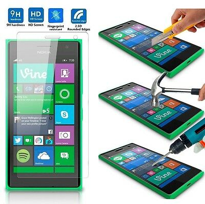 2.5D 9H Premium Tempered Glass Screen Protector Film Case For Nokia Lumia Phones