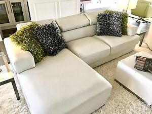 Pleasant Details About New Bonded White Leather Sofa With Chase For Sale Alphanode Cool Chair Designs And Ideas Alphanodeonline
