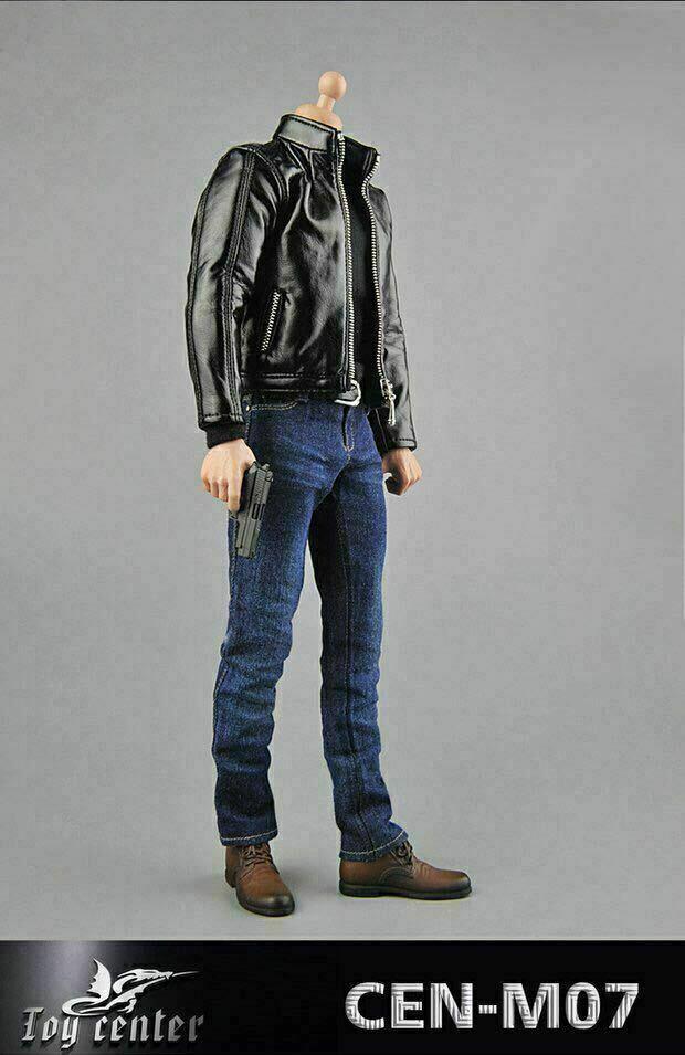 Toy Center 1 6 Agent Leather Suit Set Clothes CEN-M07 Fit 12  Male Figure Body