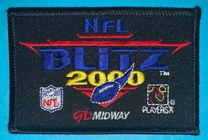 Rare-Midway-NFL-Blitz-2000-Video-Game-Hat-Hipster-Jacket-DIY-Craft-Patch-864T