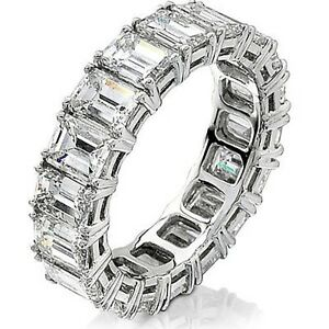 band and ring emerald with top rings anniversary bands front white jewelry wemem gold view