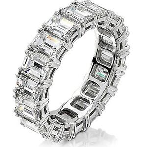 dp amazon gold bands bridal engagement clara promise pucci band anniversary emerald cut pave eternity ring white wedding ct com