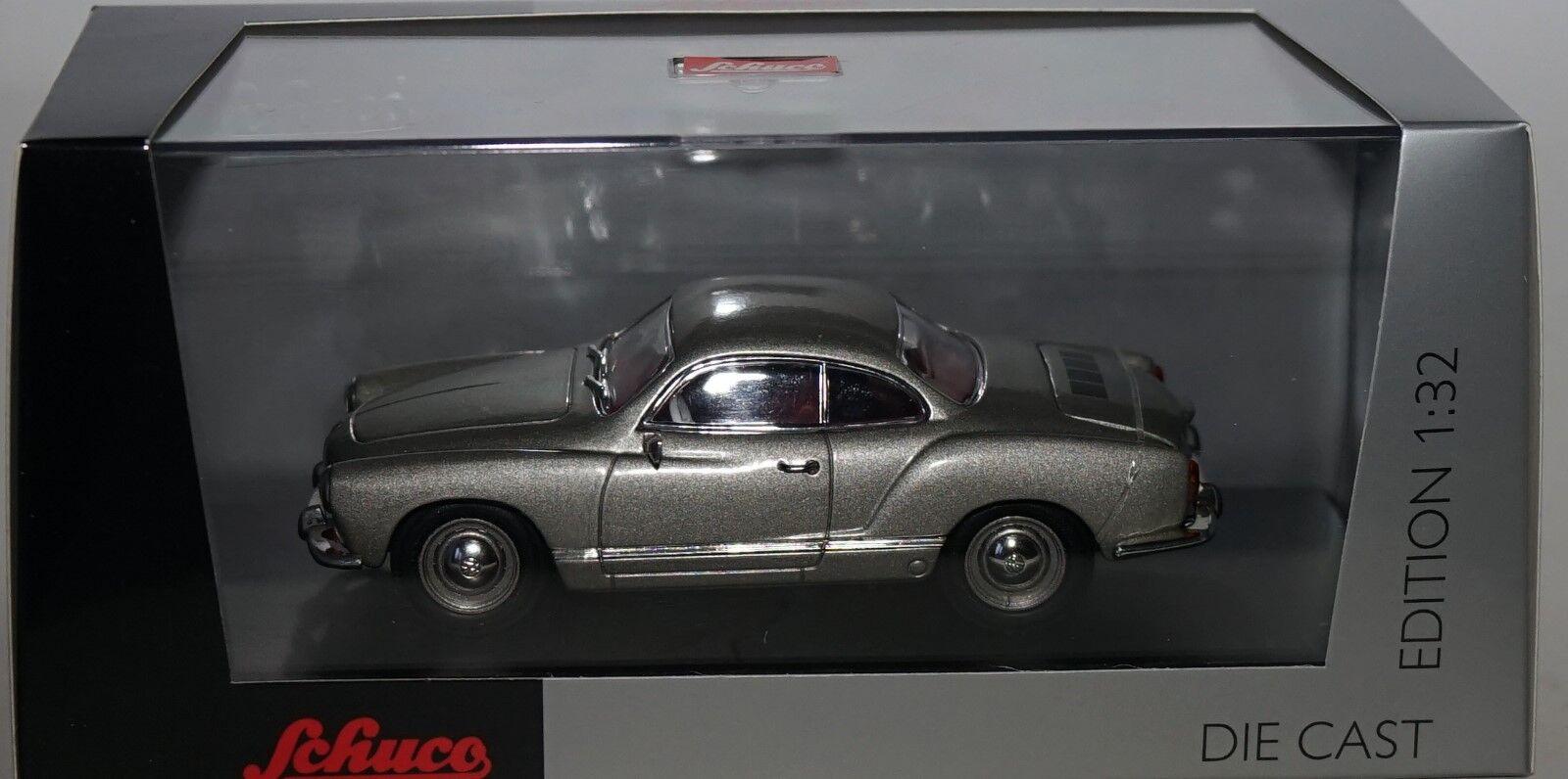 Schuco 0774600 Volkswagen Karmann Ghia in Argento 1:3 2 Scala Modello