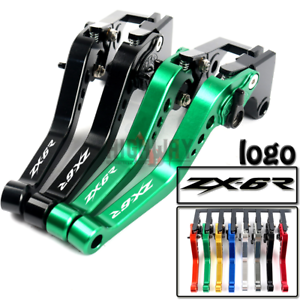 For Kawasaki ZX6R ZX636R ZX6RR ZX12R Z1000 ZZR600 Brake Clutch Lever Handle Grip