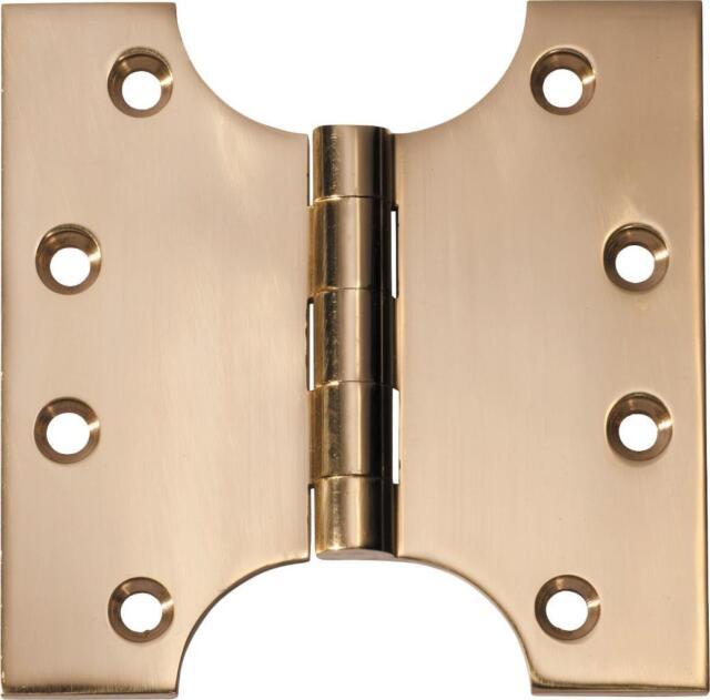 """3/"""" Antique Brass Steel ButtonTip Fire Door Butt Hinges 75 mm Grade 7 Fire Rated"""