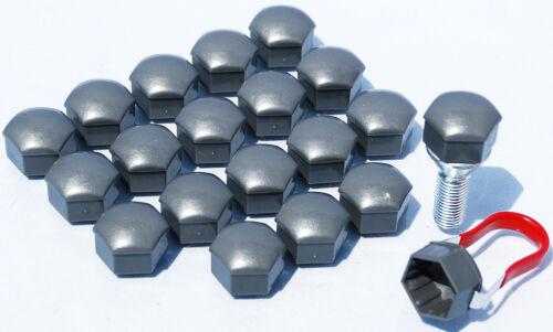 20 x roue en alliage boulons écrous capuchons couvre gris 17mm hex pour VAUXHALL