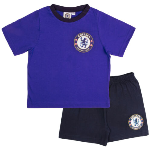 Boys Official Chelsea Short Pyjamas 100/% Cotton Football Shortie PJs Kids Size