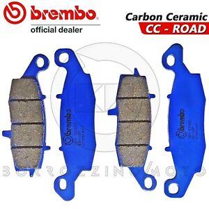 4-PASTIGLIE-FRENO-ANTERIORI-BREMBO-BLU-CARBON-CERAMIC-SUZUKI-V-STROM-650-2004