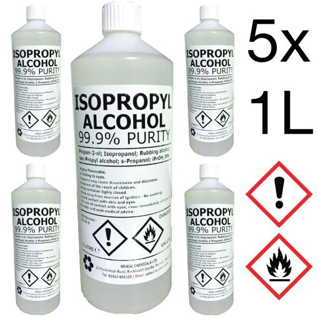 IPA 99.9%   5 LITRE   Lab Grade   Isopropyl Alcohol/Isopropanol   5L