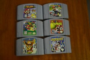 Lot-of-6-Nintendo-64-Games-Super-Smash-Bros-Mario-Kart-Mario-Party-Dr-Mario-MORE