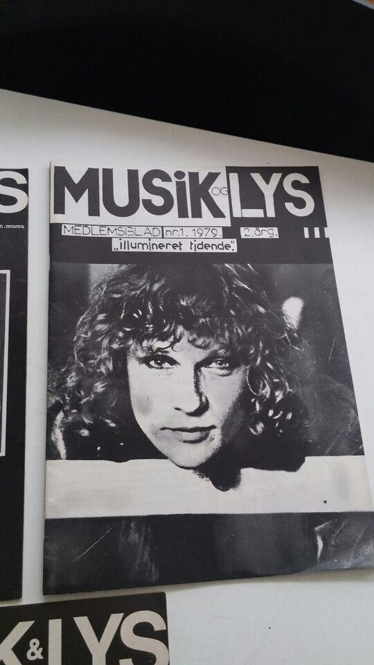Musik & Lys 5 numre, Redaktion, Blad