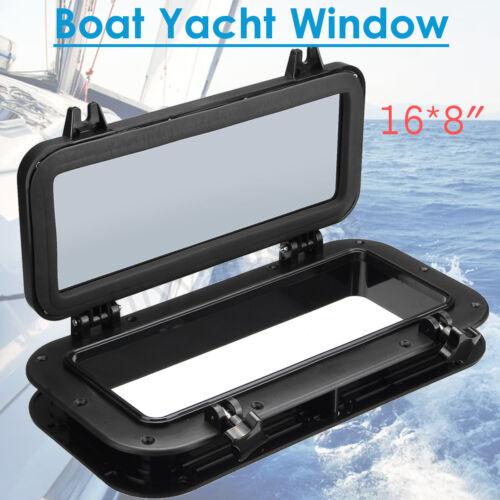 Boot Marine Yacht Ersatz Bullauge Sichfenster Fenster 400mm*200mm Schwarz