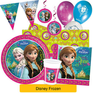 Disney-FROZEN-Officiel-GAMME-FETE-Alpine-Vaisselle-Decorations-Anna-Elsa