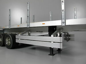Pair Aluminum Side Rail Step Bumper Guard Tamiya 1//14 Tractor Truck Tank Trailer