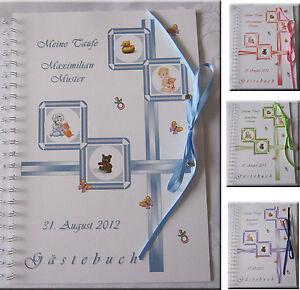 Gaestebuch-Taufe-mit-Bild-des-Kindes-4-Farben-Geschenk-Baby-Taufgeschenk
