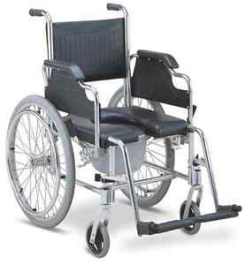 3-in-1 Commode Wheelchair Bedside Toilet & Shower Chair Rust Free ...
