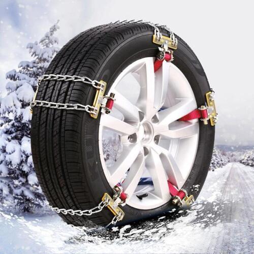 UK Universal Anti-skid Car Truck Steel Tire Chain Winter Snow Belt for 165-195mm