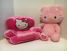 "18"" Hello Kitty Build A Bear Plush With BAB Plush Velvet Chair"