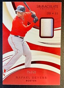 2020 Panini Immaculate RAFAEL DEVERS Jersey Patch Relic SP /49 Boston Red Sox