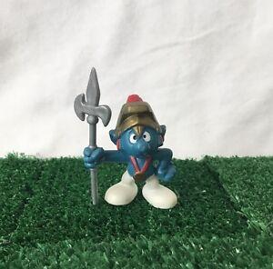 Smurfs Knight Castle Guard 20109 Vintage 1979 Rare Toy Figure Schleich