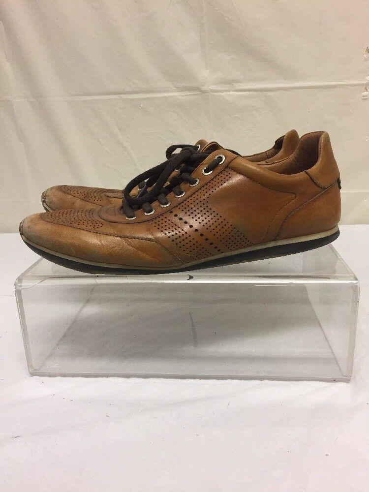Vintage Magnanni Mens Brown Leather shoes Sz 9 M