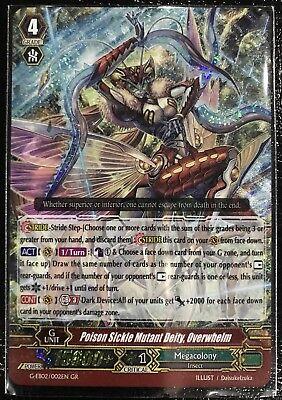 G 1x Cardfight! Vanguard Poison Sickle Mutant Deity G-EB02//002EN Overwhelm