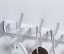 miniature 8 - 3-6Hooks Coat Robe Hat Clothes Hanger Towel Rack Space aluminum Wall Mount Black