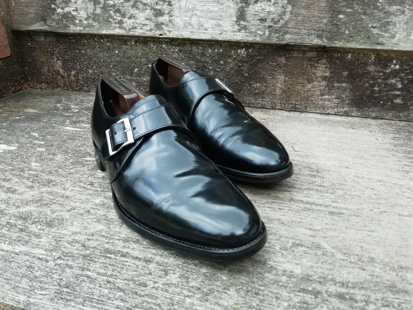 CHEANEY Monk Strap Scarpe da uomo-Nero-– Ottime condizioni