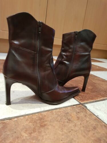 Women Brown Real Size4 Aldo 37 Leather Boots 1FqwaO7