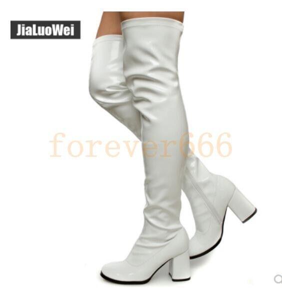 Trend Damen Stiefel Sexy Hohe Overkneestiefel Stiefel Blockabsatz Sexy Stiefel Gr.36-46 COS b0a190