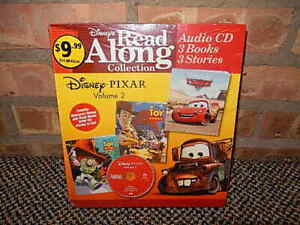 Details about Disney's Read Along Collection 3 Books & CD Toy Story, A Bugs  Life, Pixar Cars