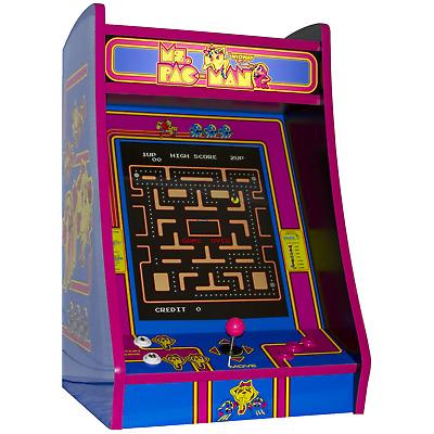 PINK Ms PacMan Bartop Arcade Machine, Multicade w/60 Games ...