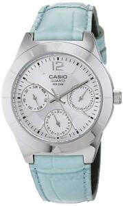 d72d134cd295 Reloj Casio LTP-2069L Rosa o Azul Correa Cuero Analógico Mujer o ...