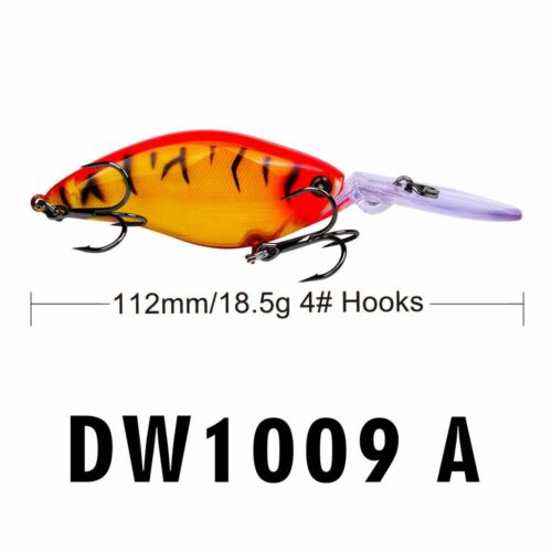 3D Fly Fishing Bass Tackle Eyes Sink Minnow Fishing Lure Hard Bait Crankbait