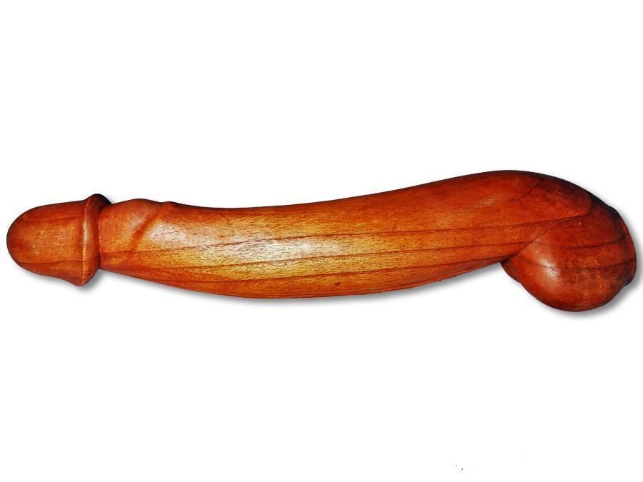 Holzpenis Phallus aus Soarholz 50cm Penis aus Holz Erotik Figur Skulptur